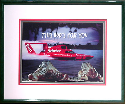 Budweiser Frogs Boat Ride Advertising And Animation Art Cel