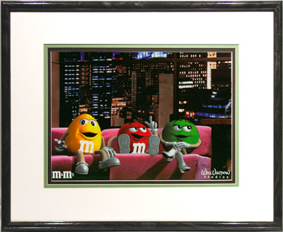 M&M's Brand Talk Show Advertising And Animation Art Cel