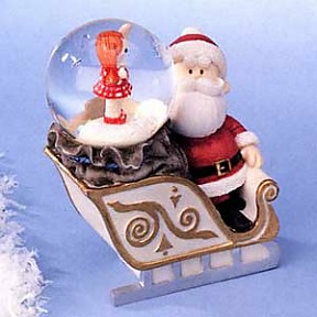 Santa With Misfit Doll Waterglobe From Rudolph The Red Nose Raindeer