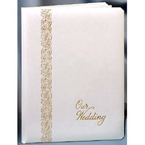 Pearl White Wedding Keepsake Album