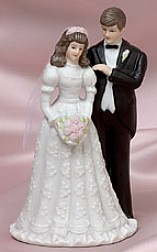 Ceramic Bride And Groom Figurine