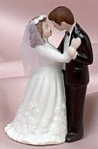 Ceramic Dancing Couple Wedding Figurine