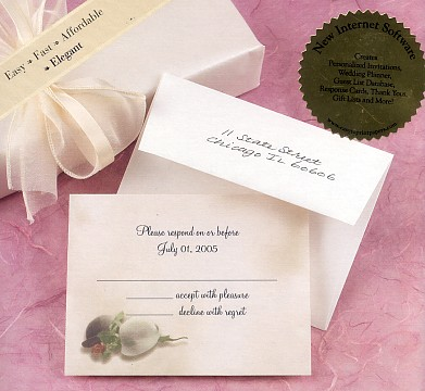 Kim Anderson First Kiss Wedding Note Cards