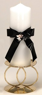 Hog Tied Motorcycle Theme Pillar Candle
