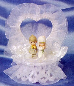 Precious Moments White Cake Topper