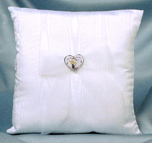 Precious Moments Square White Wedding Ring Pillow