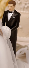 Caucasian Groom Perfect Match-Rimony Cakeside Statuette Designed By Ty Wilson