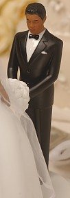 African-American Groom Perfect Match-Rimony Cakeside Statuette Designed By Ty Wilson
