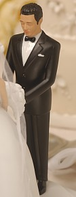 Asian Groom Perfect Match-Rimony Cakeside Statuette Designed By Ty Wilson
